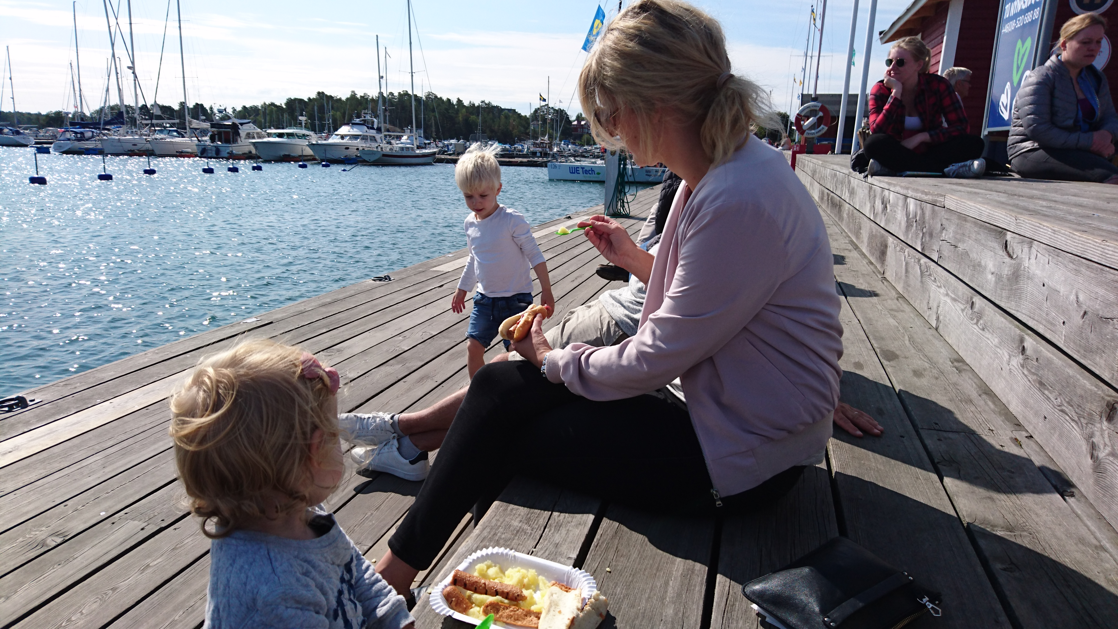 Picture from the habour of Nynäshamn